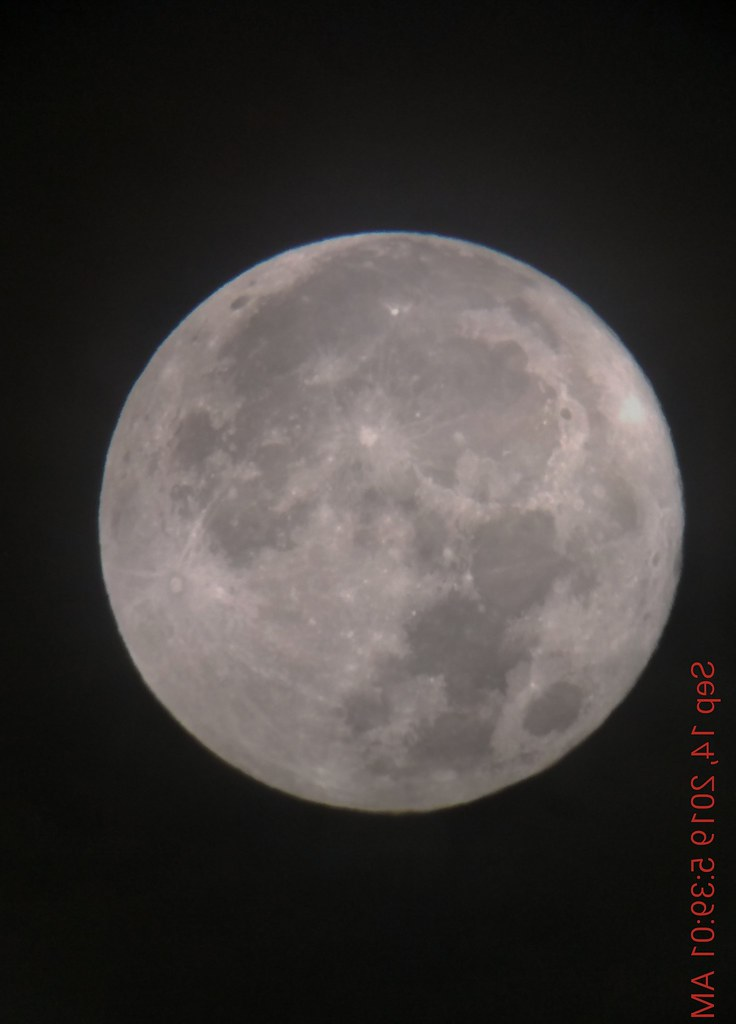 Full moon - morning of 9-14-2019