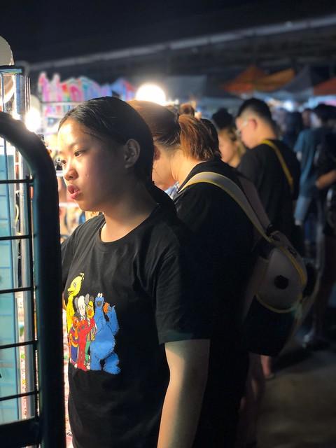 girl at the night market