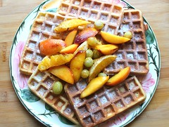 BREAKFAST OF CHAMPIONS # 74 – BELGIAN WAFFLES WITH CARAMELIZED FRUIT