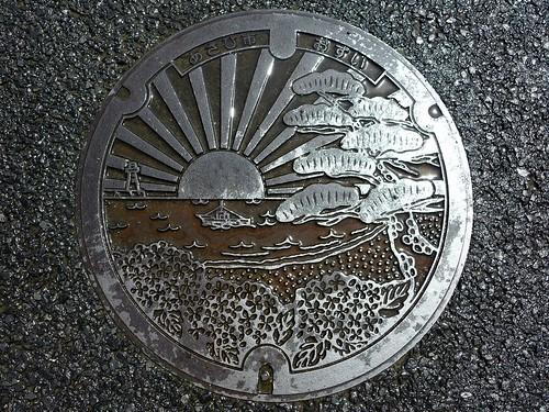 Asahi Chiba, manhole cover (千葉県旭市のマンホール)