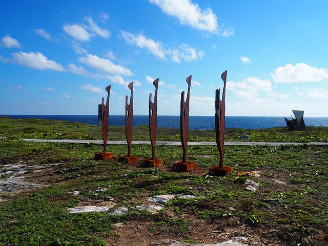 P1201797 イスラ・ムへーレス Ruins of Ixchel Temple Isla Mujeres ひめごと