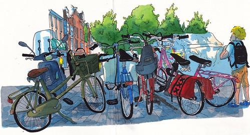 bicicletas em Amesterdão