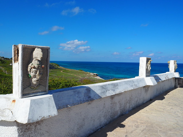 P1201787 イスラ・ムへーレス Ruins of Ixchel Temple Isla Mujeres ひめごと