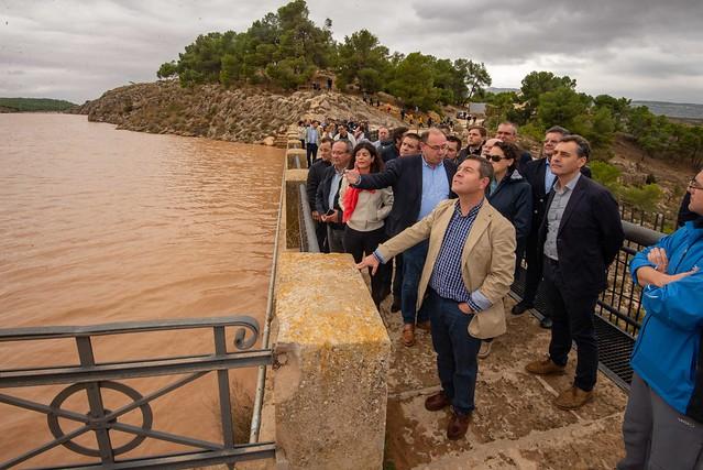 El presidente visita las zonas de Albacete afectadas por el temporal.