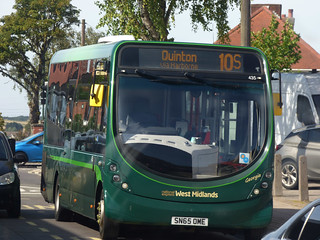 Green bus on the 10S to Quinton - Lockwood Road, Northfield