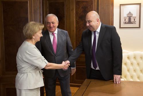 14.09.2019 Întrevederea Președintelui Parlamentului Zinaida Greceanîi cu Asaf Hajiev și cu Ramaz Nikolaishvili