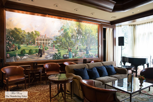 Polo Club Lounge with the stunning mural