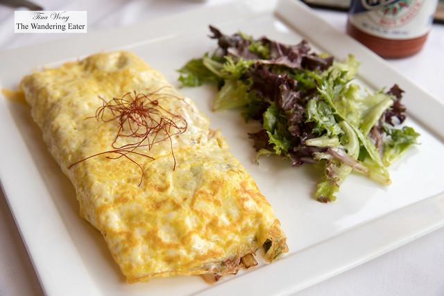Seafood omlette