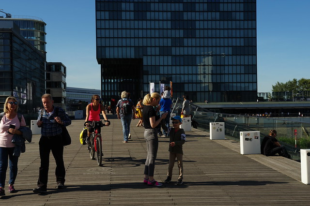 Spätsommer im Medienhafen Düsseldorf