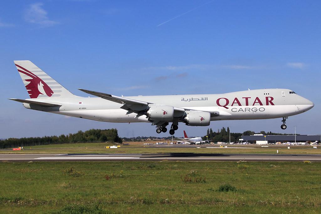 Qatar Airways Cargo  Boeing 747-87U(F) A7-BGA