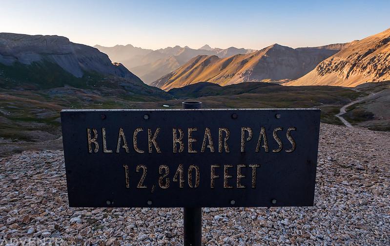 Black Bear Pass Sign