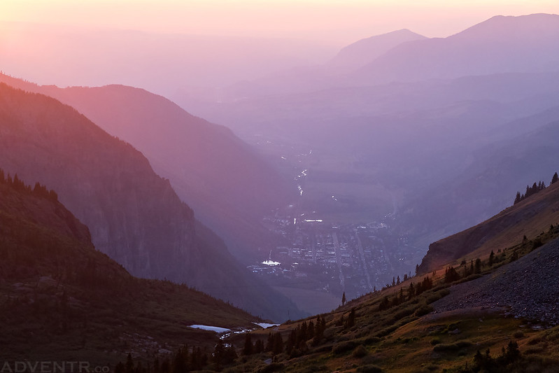 Smoky Telluride Sunset