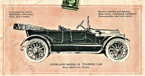 1915 Overland Model 81 Touring Car | by aldenjewell