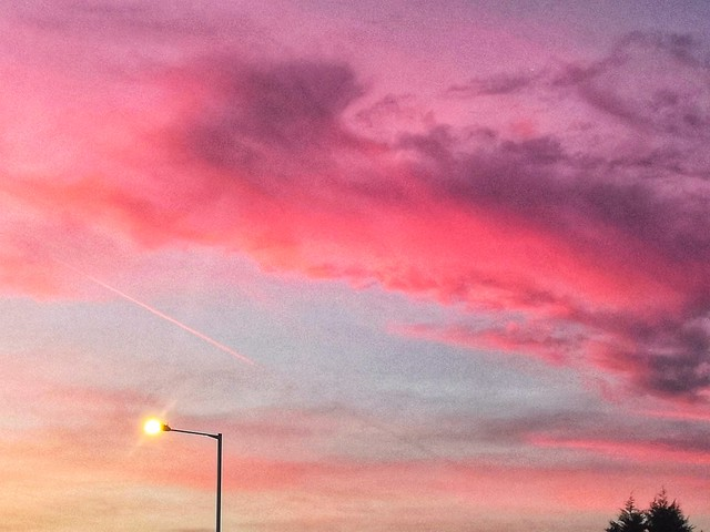 Red sky over Cheadle
