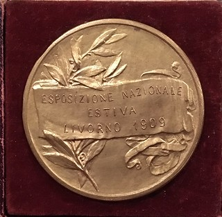 1909 Spanish Commemorative Medal reverse