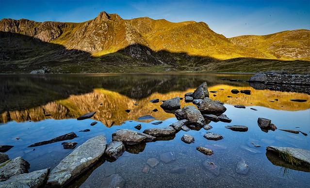 Llyn Idwal reflection, North Wales.