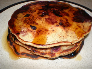Flax-Berry Pancakes