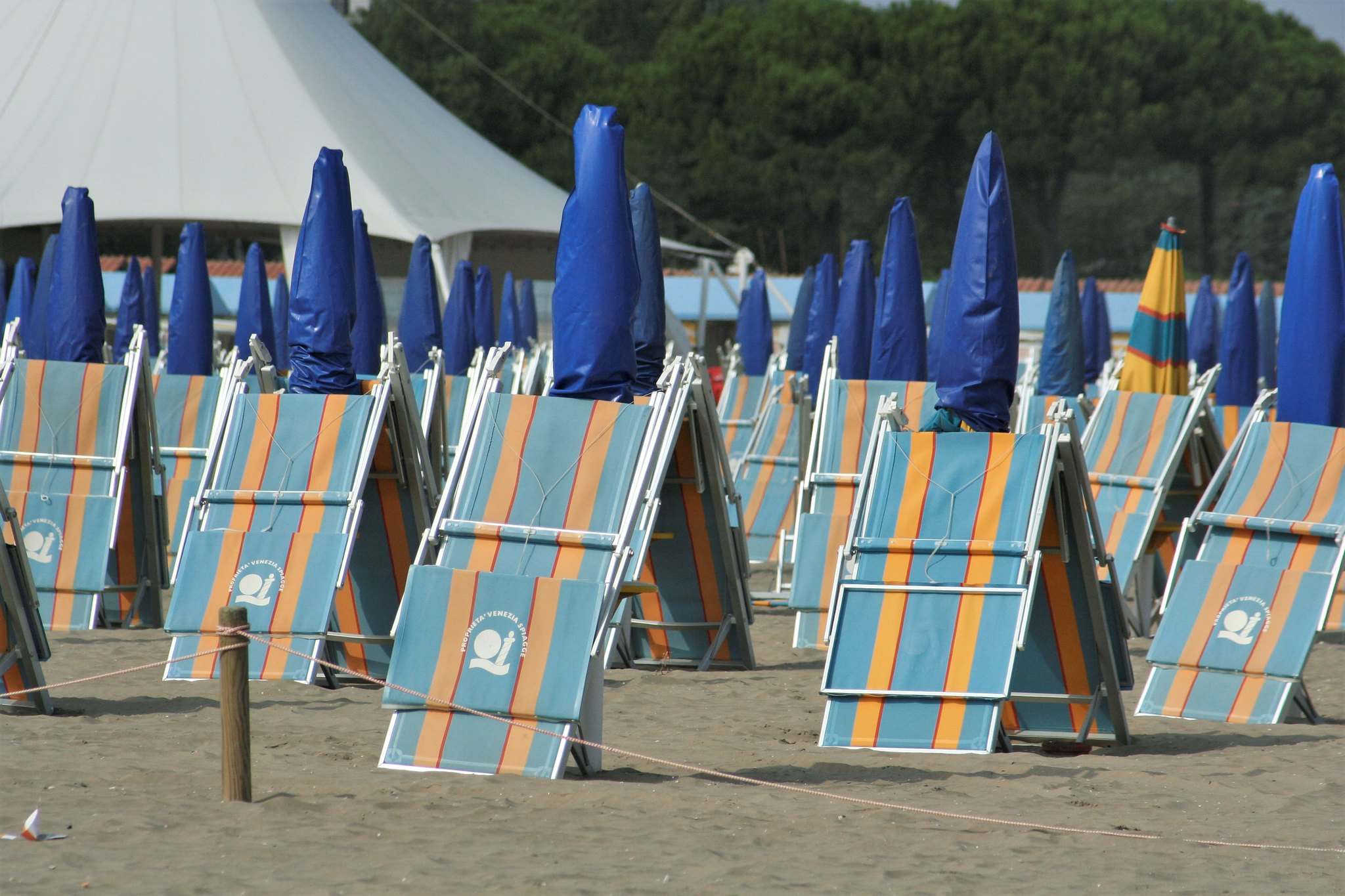 Umbrellas and deck chairs (2)