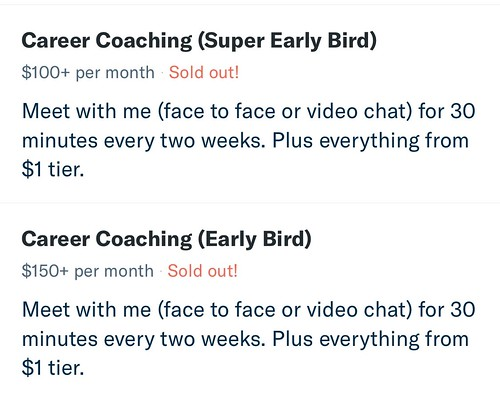 Career Coaching 名额报满
