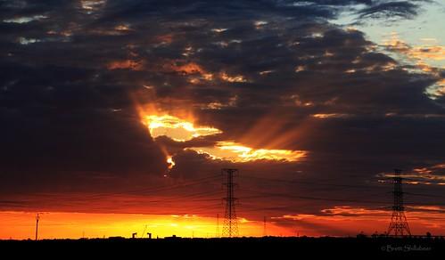 sunset drycreek southaustralia winter