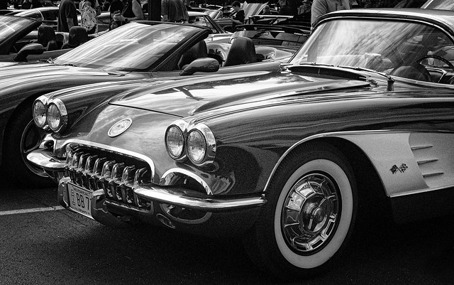 Corvette at Cars and Coffee, Carillon Historical Park