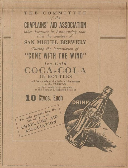 1940 advertisement for Coca-Cola - Gone with the Wind