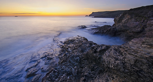 Pentire Point after sunset