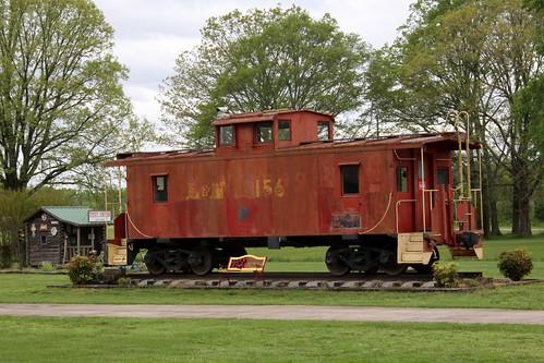 train caboose 156 ln louisvillenashville ardmore al alabama madisoncounty bmok bmok2