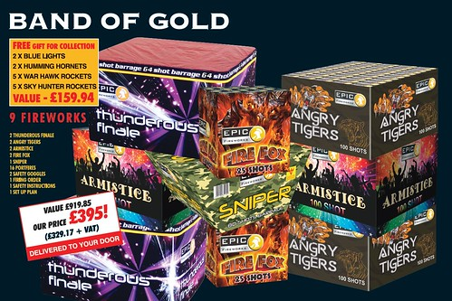 NEW FOR 2019 - Band Of Gold Epic Fireworks Display Pack
