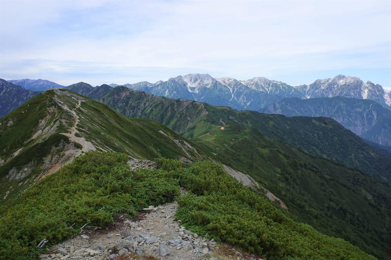 爺ヶ岳から眺める立山~剱岳