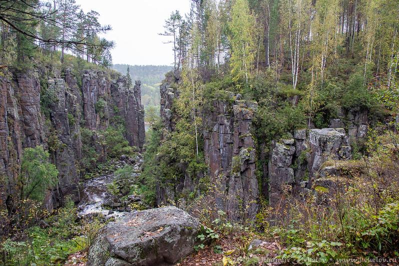 Утье реки Ук / Ukowski waterfall and river Uk /  190907_c06d_5719