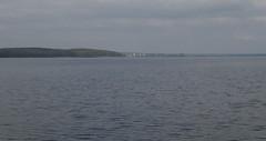 View over Lake Sebezhskoye to Sebezh, 01.09.2019.