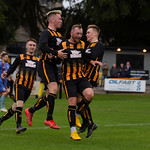 Kai Ross is congratulated after setting up the equaliser