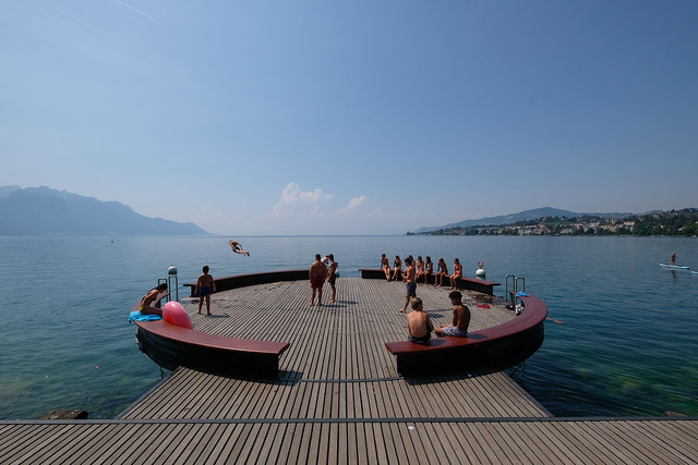 in Montreux, Genfer See