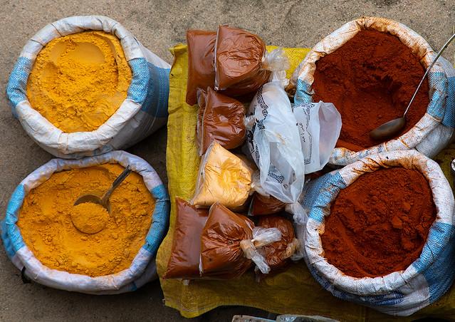 Churo powder for sale in market, Semien-Keih-Bahri, Keren, Eritrea