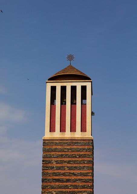 Enda mariam orthodox cathedral tower, Central region, Asmara, Eritrea