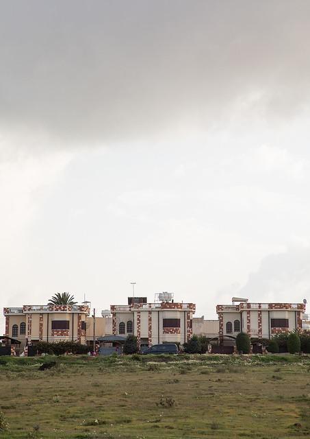 Luxury villas for the war heroes in front of the tank graveyard, Central region, Asmara, Eritrea