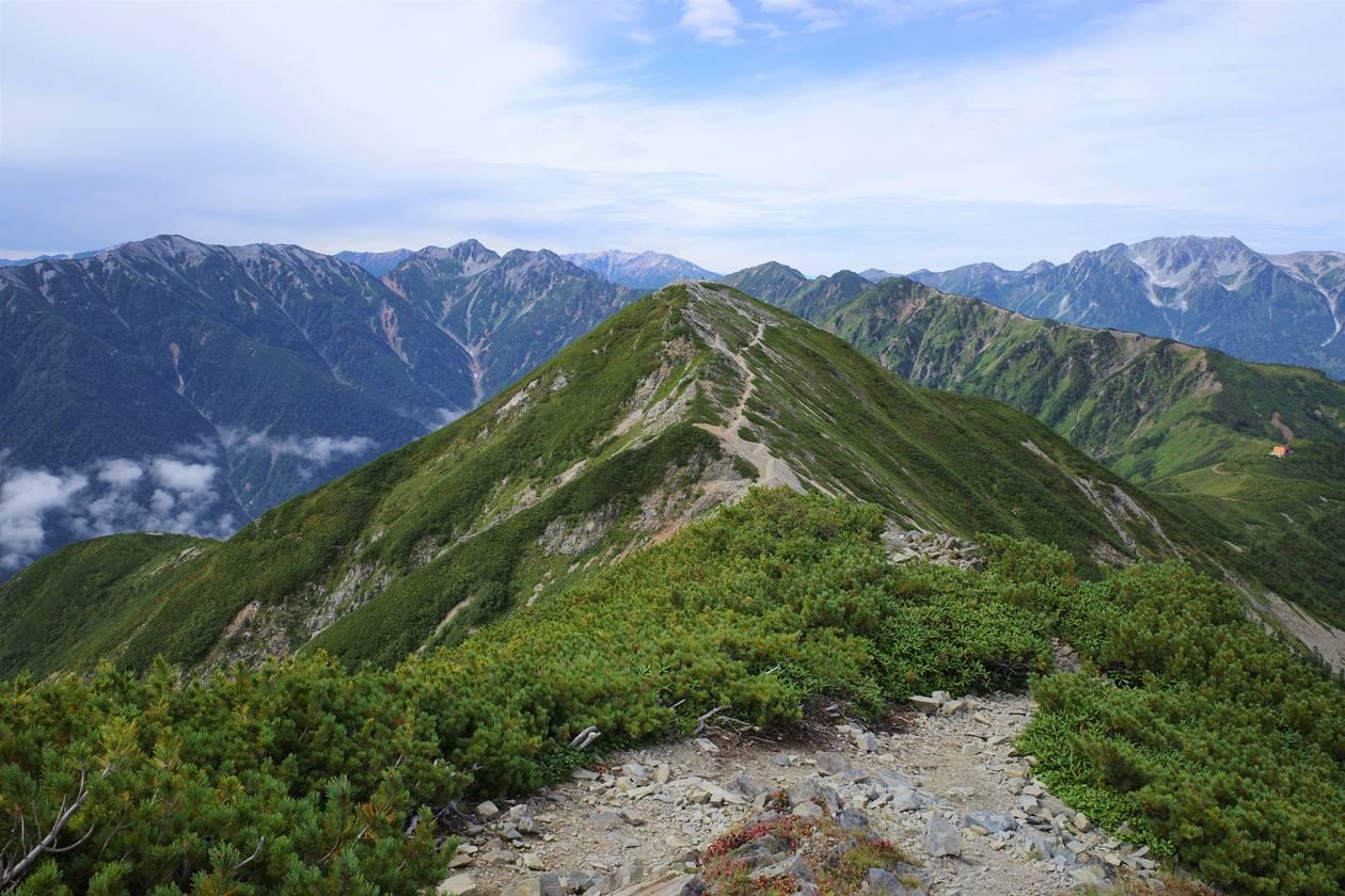 北アルプス・爺ヶ岳山頂からの展望