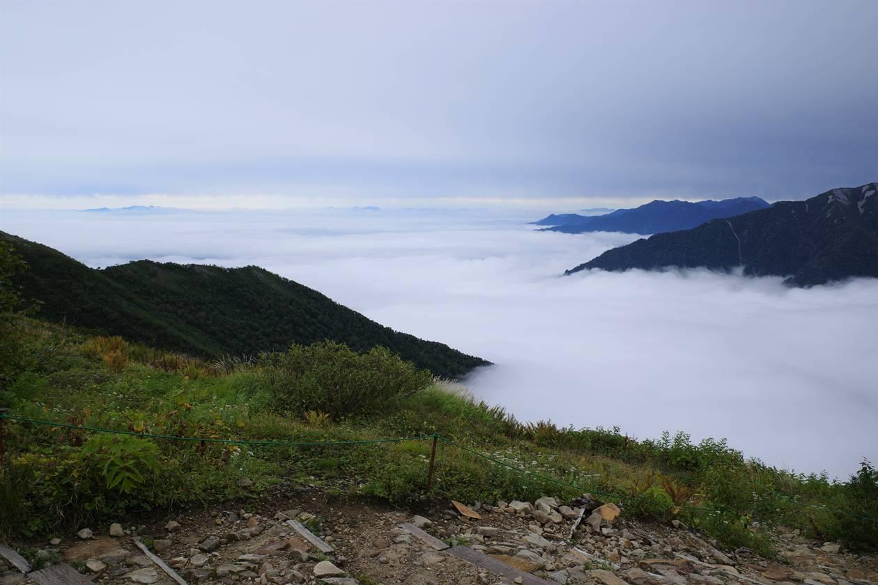 種池山荘から眺める雲海