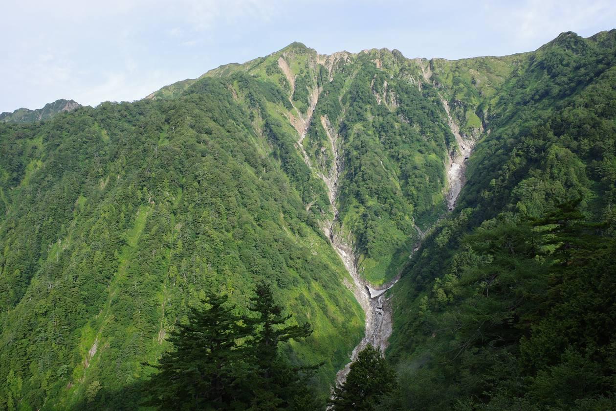 スバリ岳~赤沢岳の岩壁