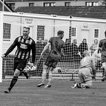 Declan Milne celebrates his second goal in as many games at Christie Park