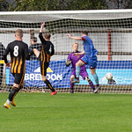 Michael Selfridge heads in the opening goal for Keith
