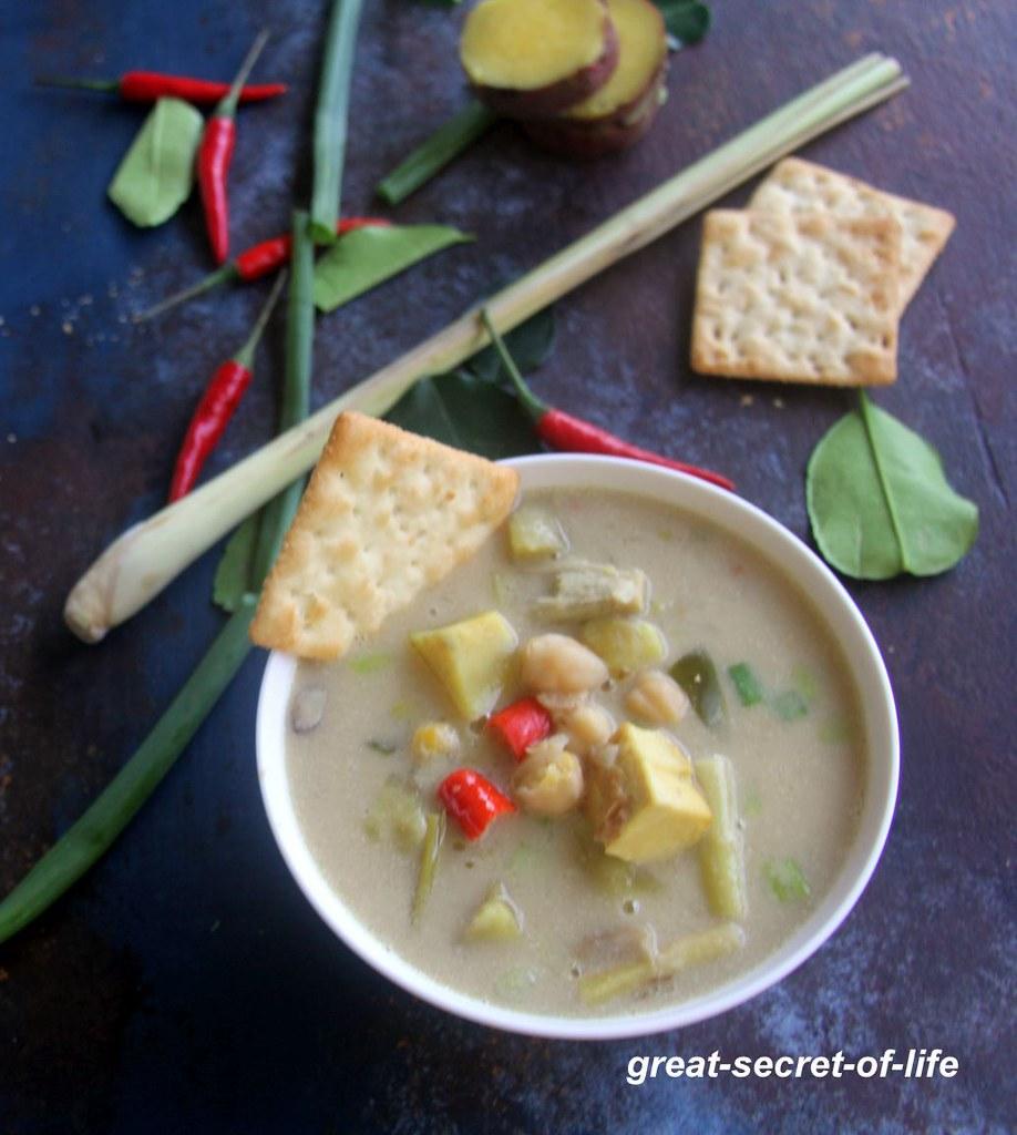 sweet potato soup recipe - Sweet potato soup with coconut milk - Soup with coconut milk - soup recipes