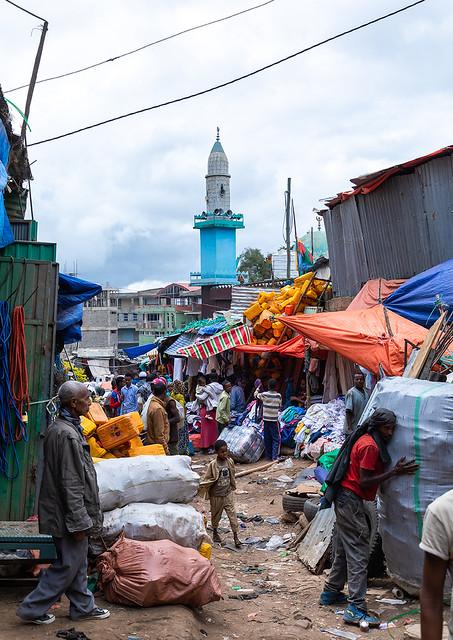 Metal market in the old town, Harari region, Harar, Ethiopia