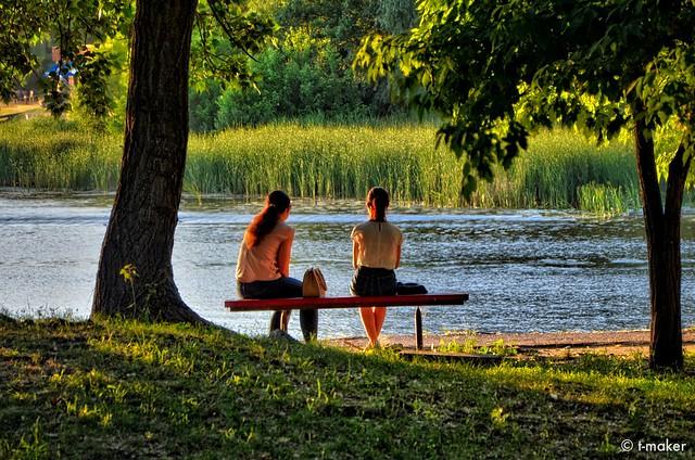 Enjoying the Summer Evening