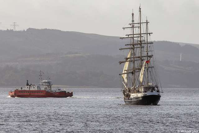 The Jubilee Sailing Trust's barque SV Tenacious, IMO 1005679; Firth of Clyde, Scotland