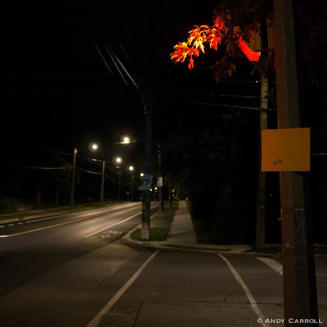 Hilliard St., night