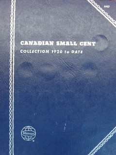 Whitman folder Canadian Small Cent Collection 1920 to Date