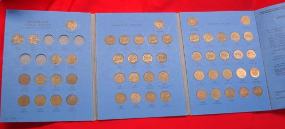Whitman folder Canadian Small Cent Collection 1920 to Date open