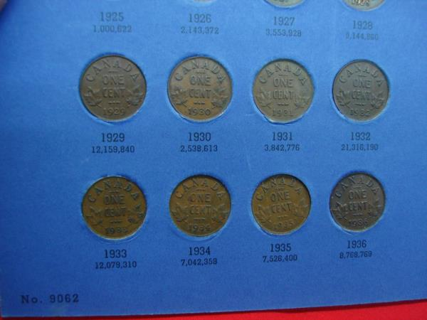 Whitman folder Canadian Small Cent Collection 1920 to Date inside
